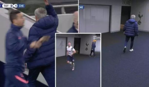 Football fans react as Eric Dier left the field to toilet ...