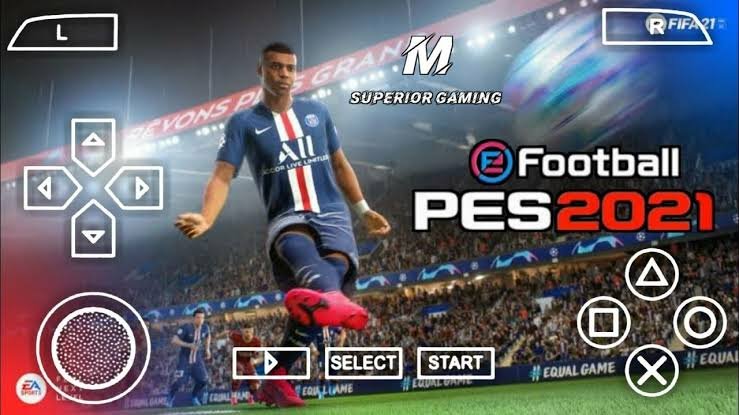 Download PES 2021 PPSSPP, PES 2021 PSP Iso file English (PS4 Camera) for Android