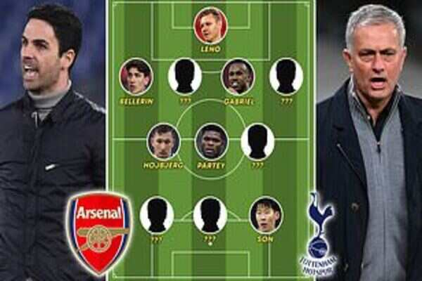 Arsenal vs Tottenham Lineups For Today London Derby Game