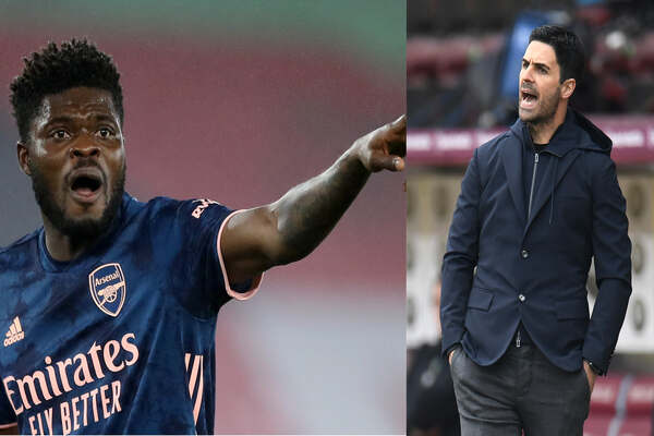 Mikel Arteta reveals Why He Substitute Partey Early In Olympaicos vs Arsenal Europa League Game