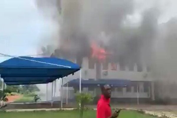 Police debunk Imo State House of Assembly is on fire as fake news