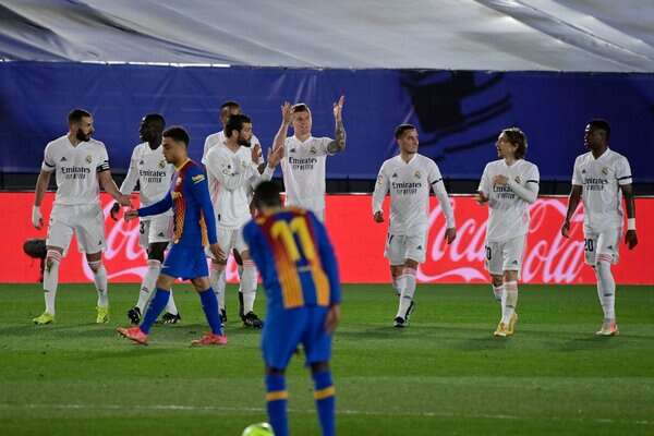 Elclasico: Real Madrid Top La Liga Table After 2-1 Win Over Barcelona