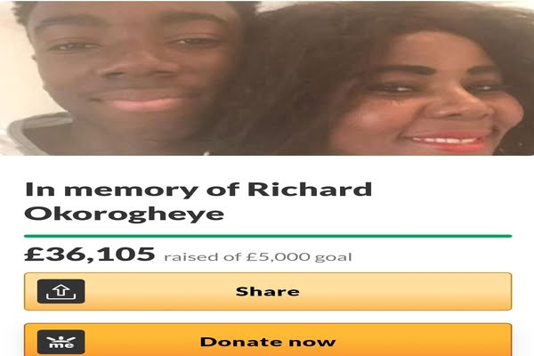 Blessing Okorji GoFundMe Hits £36,105 After Richard Okorogheye Body Found In A Pond In Epping Forest
