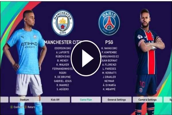 Watch Manchester City vs PSG Live Streaming
