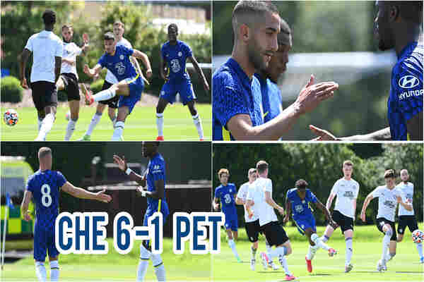 Watch full Highlights: Hakim Ziyech scores hat-trick as Chelsea beat Peterborough United 6-1 in first Pre-Season friendly