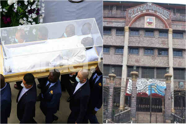 Prophet TB Joshua's corpse arrives in Synagogue Church in Lagos