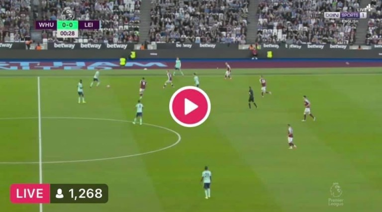 Watch West Ham vs Leicester City Live Streaming On TV
