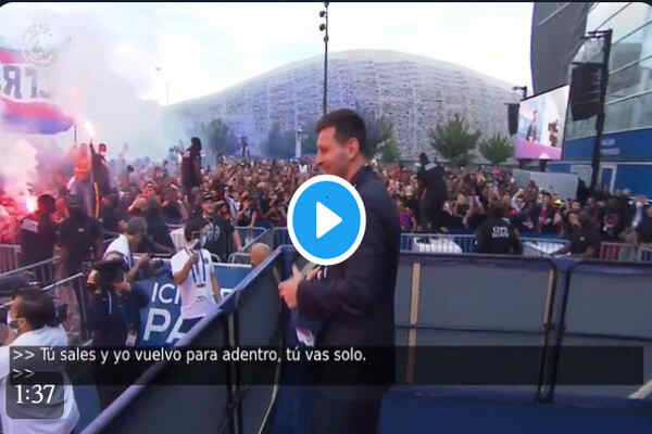 Full highlights as Leo Messi receives warm welcome from PSG fans