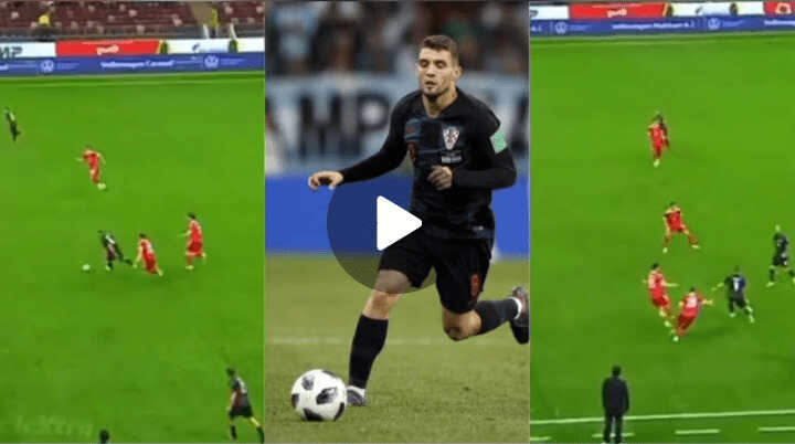 Watch Mateo Kovacic Masterclass Display In The Midfield Against Russian (Video)