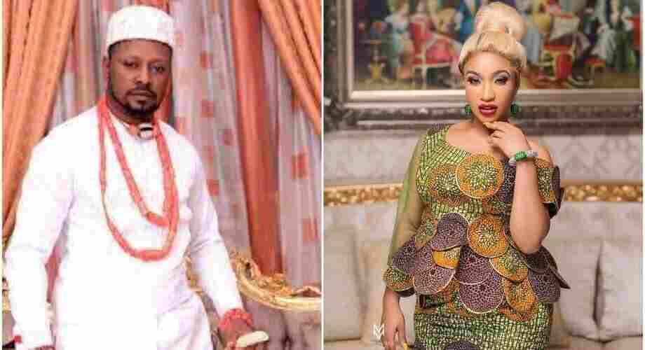 Tonto Dikeh reacts to leaked audio/video of her begging ex-boyfriend, Prince Kpokpogri