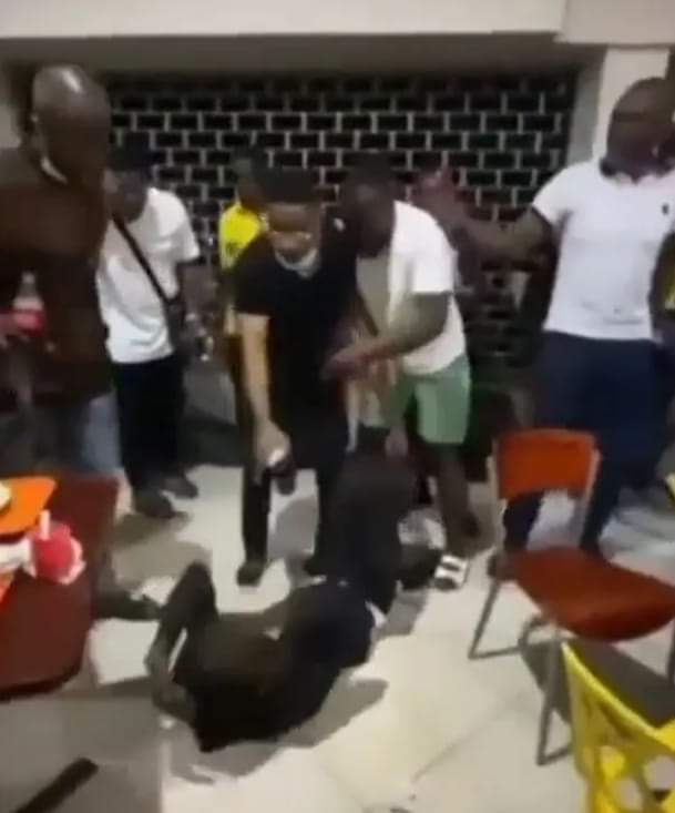 A viral video of Man spotted vomiting after he forced to drink his friend's beer he poisoned